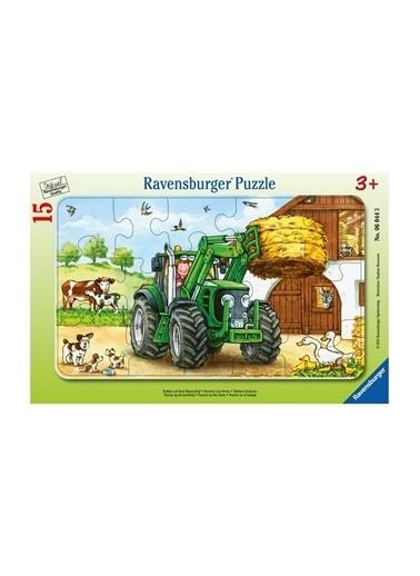 Ravensburger Ravensburger 15 Parçalı Puzzle Tractor on Farm Pembe